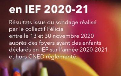 Rapport chiffré – Profil des familles 2020-2021