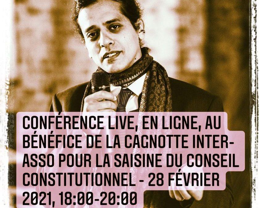 André STERN – 28.02 à 18h Conférence pour l'IEF : appel aux dons