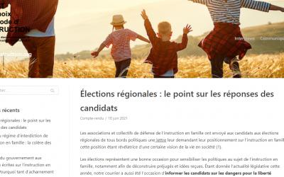 Elections régionales – Le point sur les candidats